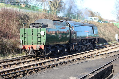 Wadebridge runs through light engine en route to the yard
