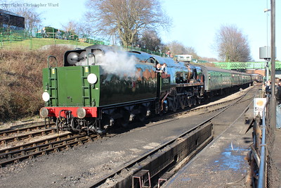 Clan Line brings in another busy train