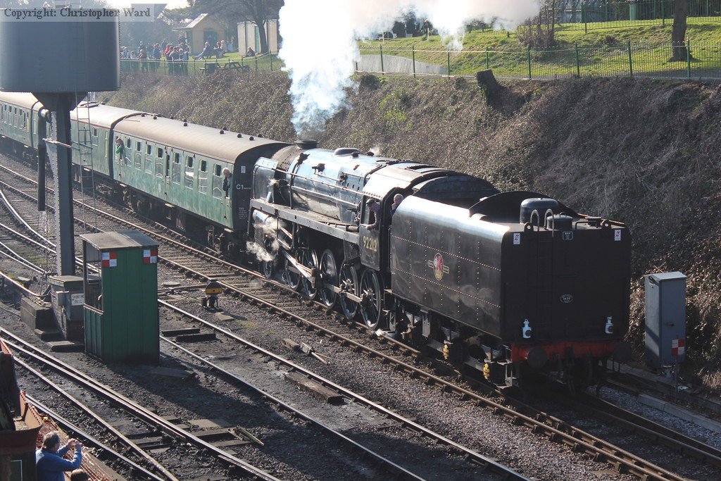The 9F leaves Ropley