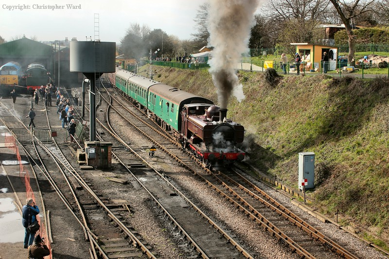 The Pannier gets to grips with her train