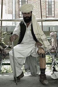Afghanistan (Panetta)  ICRC, Kabul. Crescent Cross. The vast majority of the staff and patients are amputees, some double amputees. As we walked through the facility we passed by several patients who, one by one they would, almost methodically, lift their pant leg to show their prosthetic, or they would remove their prosthetic to show reveal their limb. And although this was generally followed by a handshake or an arm-shake for those without hands, it was always followed by what I perceived to be a look of gratitude. And although there was little we had to offer, the gift we were able to give was our presence; it was simply the gift of our time, and our ability to look into their eyes and affirm their courage.