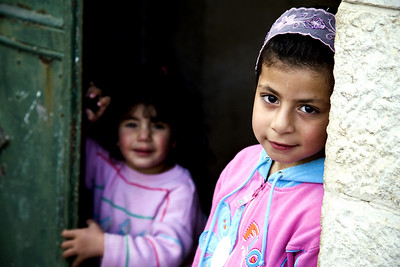 Children greeted us as we visited the family of Johnny Yousef Thaljiyye. Palestine / Israel (Panetta)