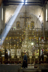 Early morning rays of sunlight illuminate the Church of the Nativity (Bethlehem) - considered the most sacred Christian site after the Holy Sepulcher (Jerusalem) Palestine / Israel (Panetta)