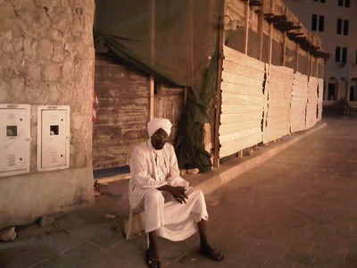 Man on the street that I talked with for a long time in Doha.