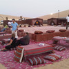 at the desert safari, we had dinner at a traditional desert camp.