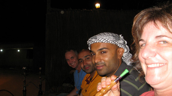After dinner at the desert camp with my group.