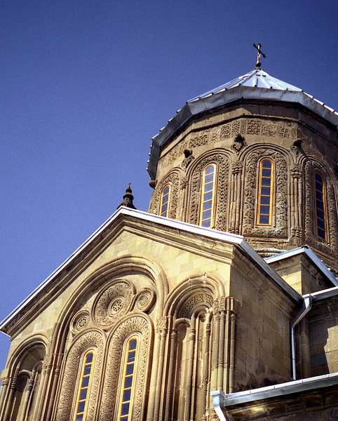 Svetitskhoveli Cathedral, Mtskheta, Georgia.  This is reputed to be the last resting place of Jesus' robe.