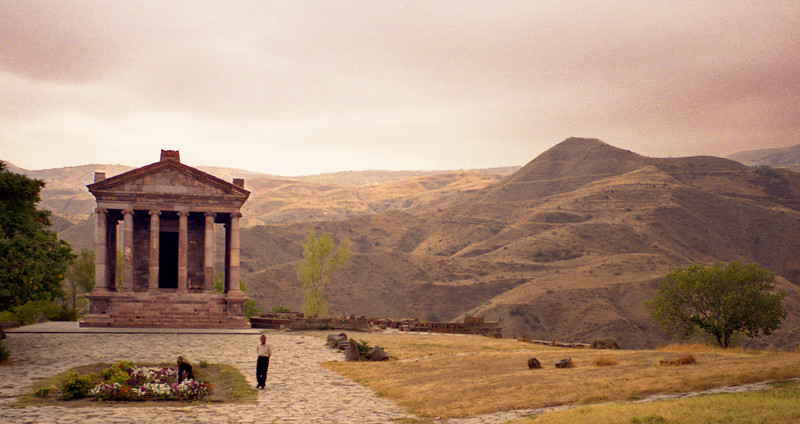 Garni temple, Armenia.  This is a Greco-Roman temple about two thousand years old.