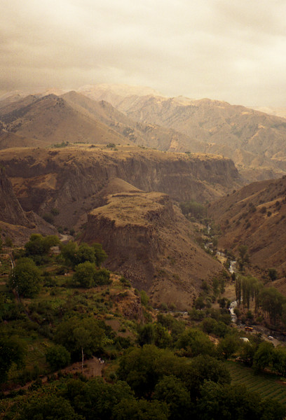 Landscape around Garni, Armenia