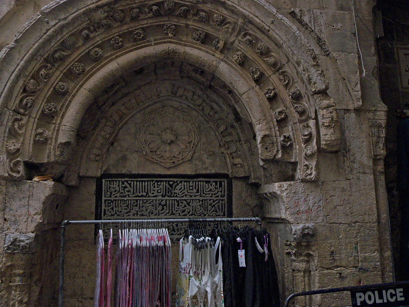 Old City, Jerusalem.  Apart from the major sights, the Old City is full of little flourishes and details from different periods of its history, coexisting with more modern manifestations.
