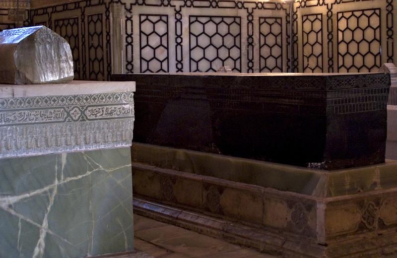 Gur Emir, Samarkand.  The black stone marks the grave of Timur (Tamerlane).