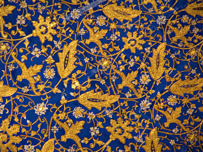 Ceiling detail, Tilya Kari Madrasah, Samarkand