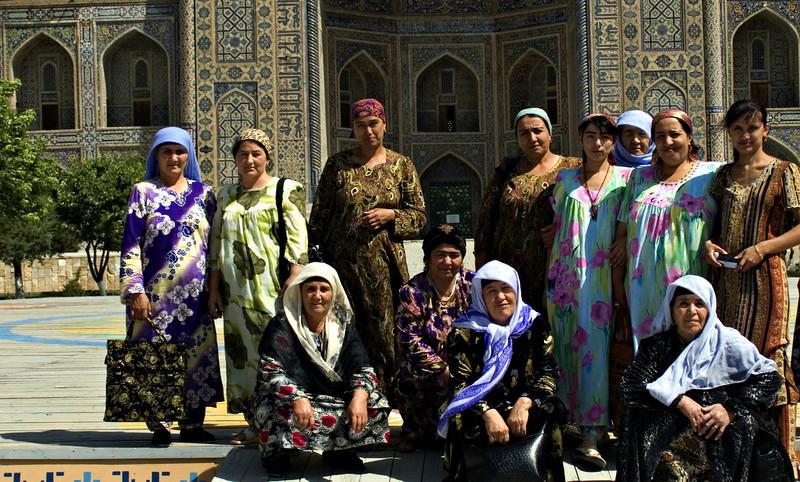 Tourists, Registan Square, Samarkand