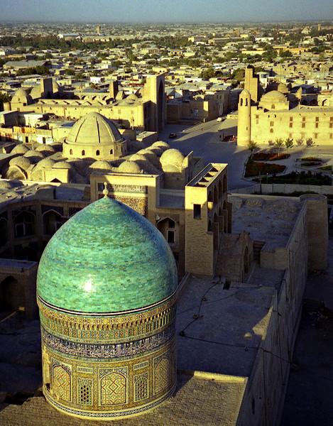 View over Mir i Arab madrasah, Bukhara, Uzbekistan