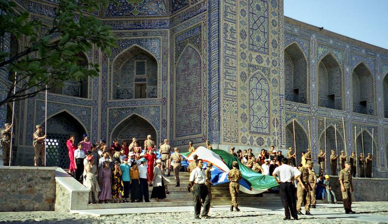 Independence Day rehearsal, Samarkand, Uzbekistan