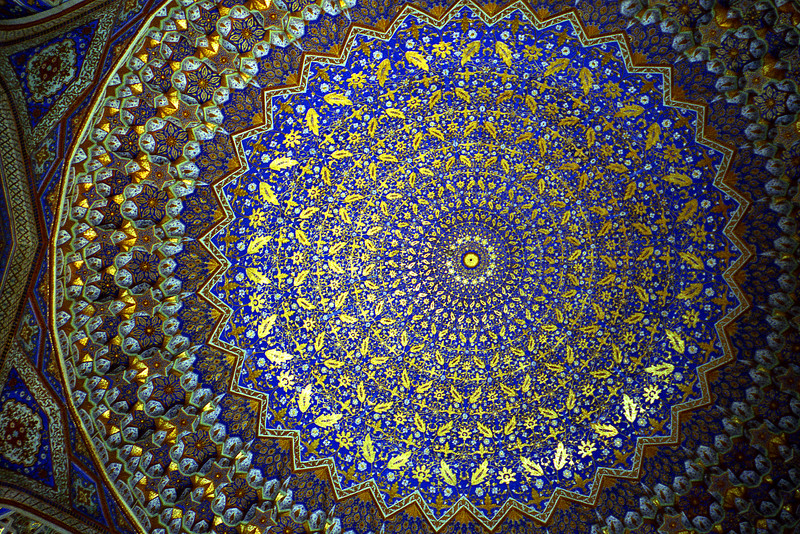 Tillya Kari madrasah, Samarkand, Uzbekistan.  My jaw dropped.