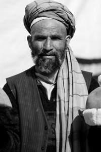 Afghan in Kabul bazaar.