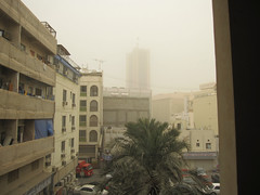 The dust storm as seen in Bahrain. It was worse in Kuwait.