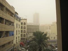 The dust storm as seen in Bahrain. It was worse in Kuwait.