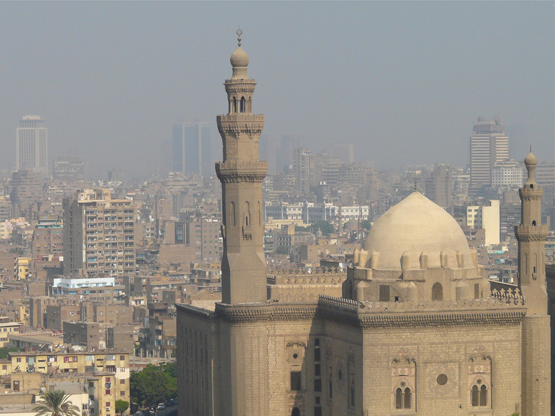 Smoggy view from the Alabaster Mosque