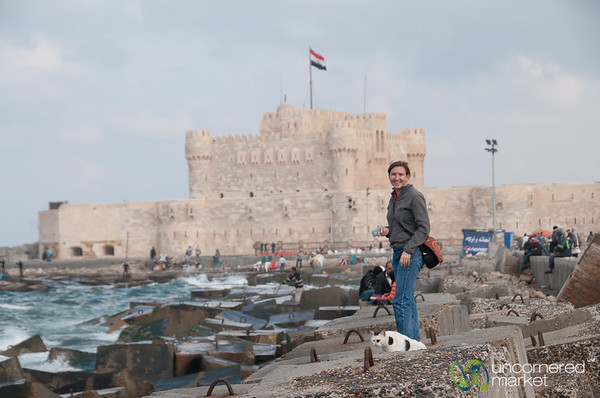 Audrey at Quaitbay Citadel - Alexandria, Egypt