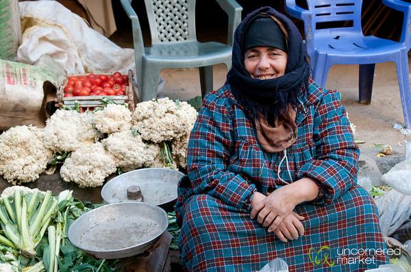 Egyptian Woman, Vegetable Vendor - Alexandria, Egypt