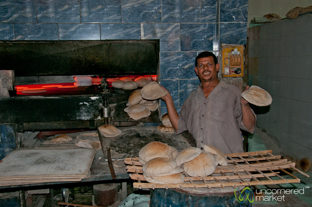 Egyptian Baker in Alexandria, Egypt