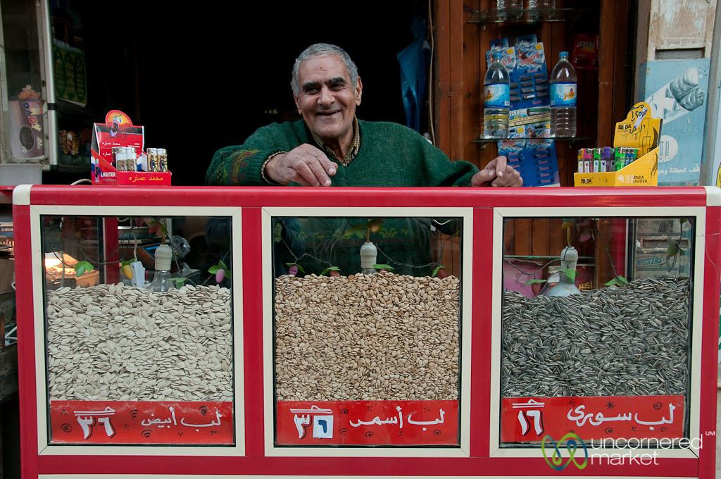 Nut Vendor of Alexandria, Egypt