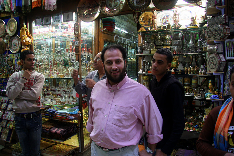 great people to talk to,  the streets of Khan el-Khalili bazaar in Cairo 2007: Khan el-Khalili  (خان الخليلي‎) is a major souk in the Islamic district of Cairo and dates by to the 1300s.