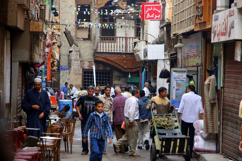 2007: Khan el-Khalili  (خان الخليلي‎) is a major souk in the Islamic district of Cairo and dates by to the 1300s.