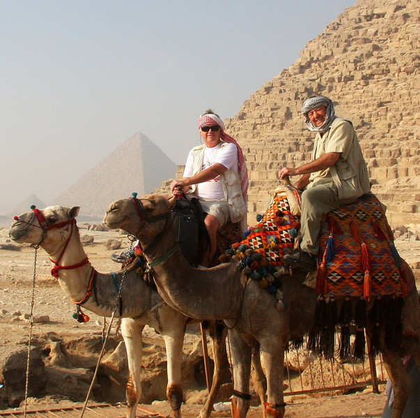 The required camel at Giza pose.. 2007: Cairo, The Giza Pyramids & local Atmosphere