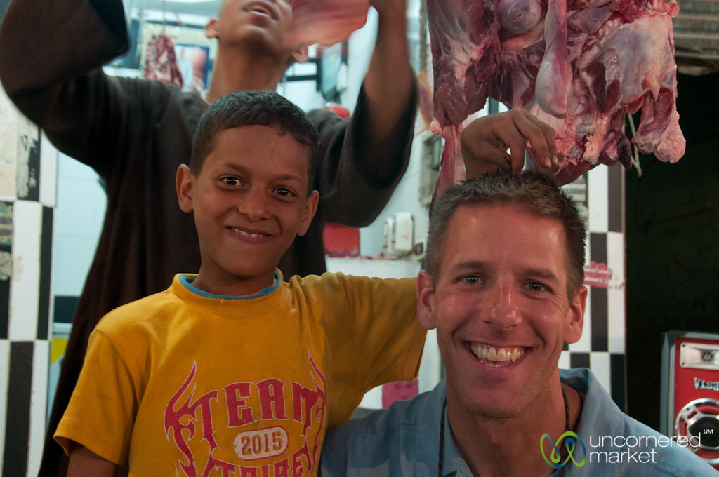 Dan & New Friend at Hurghada Market, Egypt