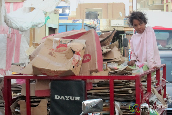 Egyptian Girl at the Hurghada Market - Egypt