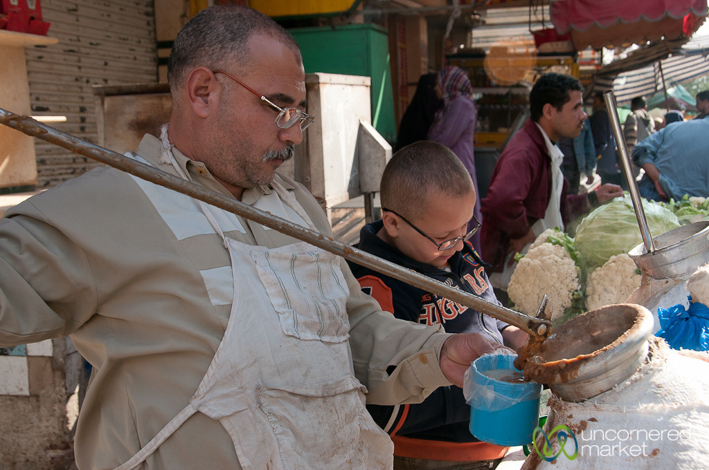 Ful Served at the Market - Alexandria, Egypt