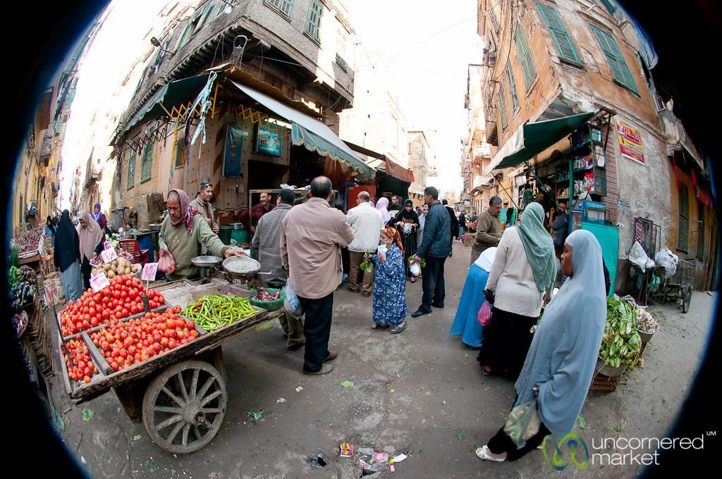 Street Market in Old Alexandria, Egypt