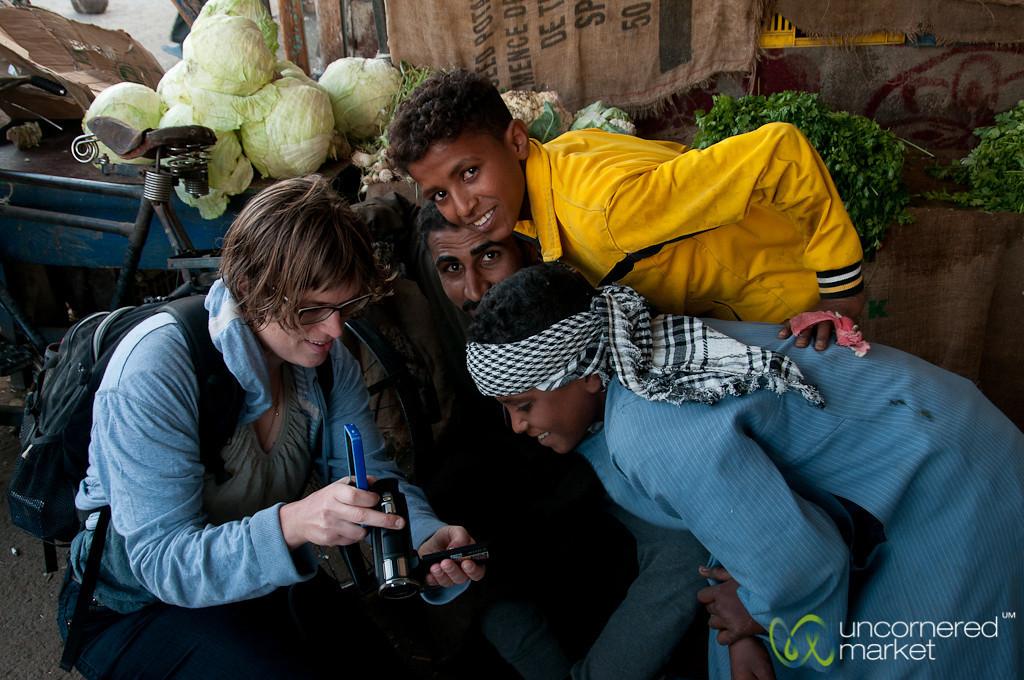 Sharing Photos at the Market - Hurghada, Egypt