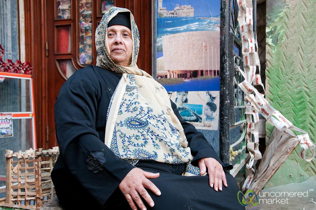 Egyptian Woman in Alexandria, Egypt