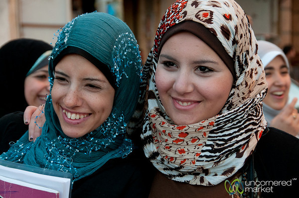 Egyptian Women Students in Alexandria, Egypt