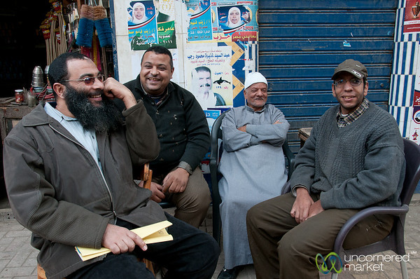 Egyptian Men Chatting - Alexandria, Egypt