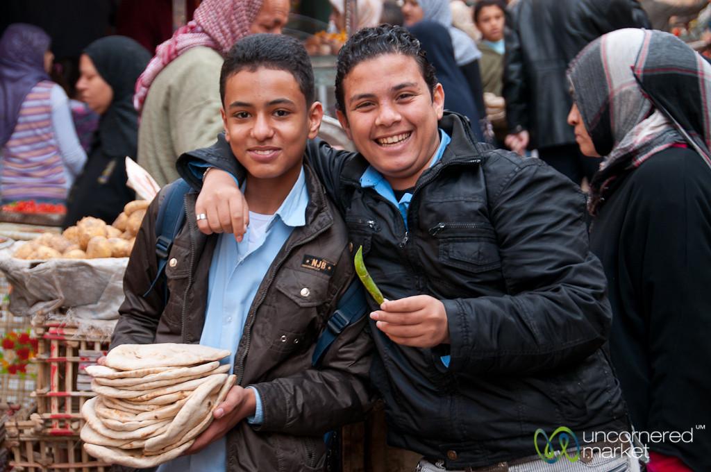 Egyptian Teenagers in Alexandria, Egypt