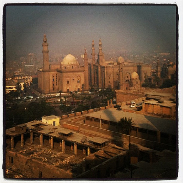Looking down on old #Cairo from the Saladin Citadel. Really lovely day around Cairo. #Egypt