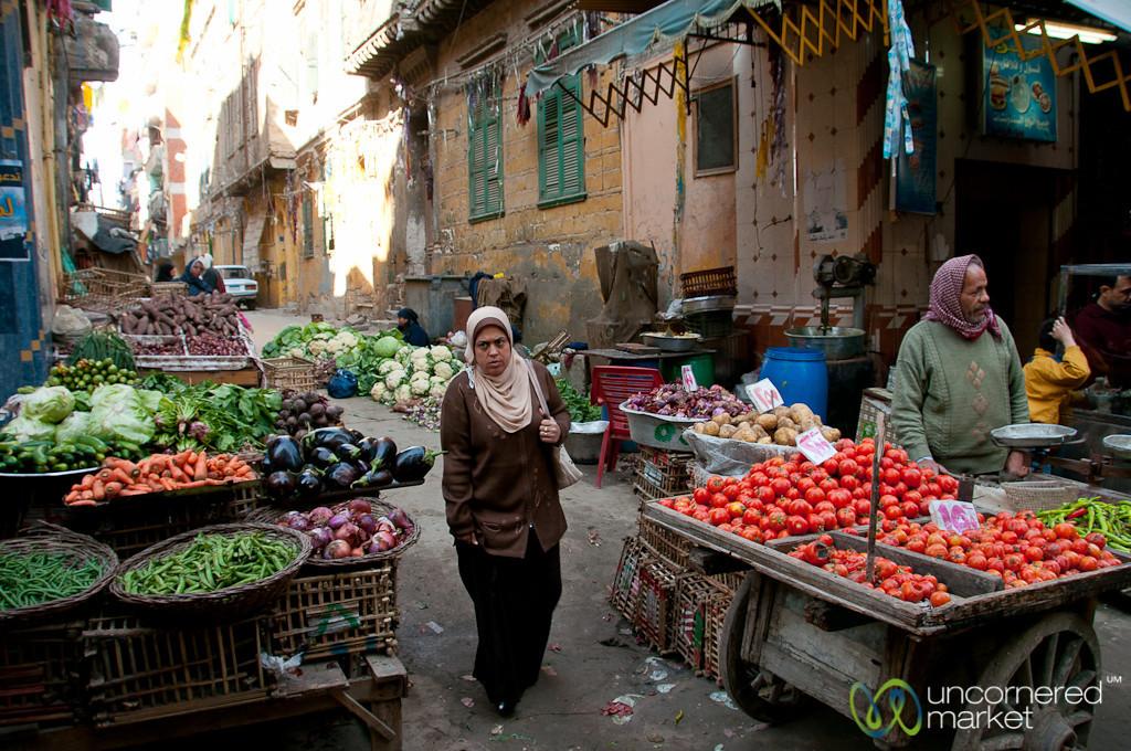 Street Market in Alexandria, Egypt