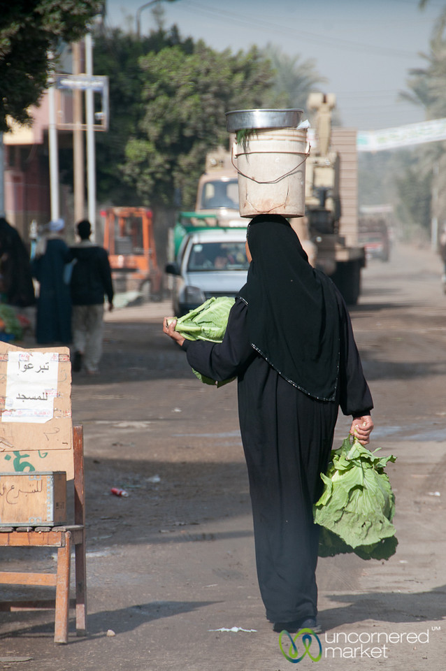 Egyptian Woman with Perfect Balance -  Dahshur, Egypt