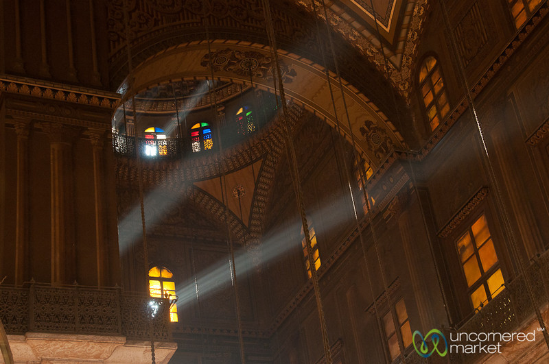 Light Streams into the Mosque of Muhammed Ali - Cairo, Egypt