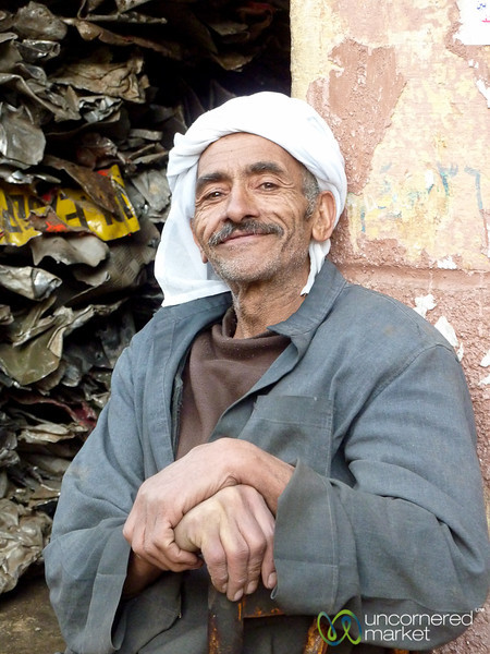 Egyptian Man on Streets of Alexandria