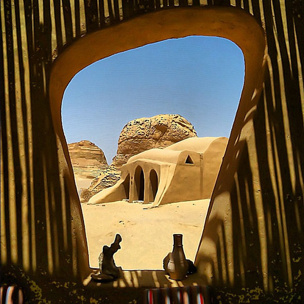 Valley of the Whales, teahouse window view #WeVisitEgypt @LoveEgypt