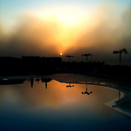Sunset sandstorm brewing on the oasis, Fayoum #WeVisitEgypt