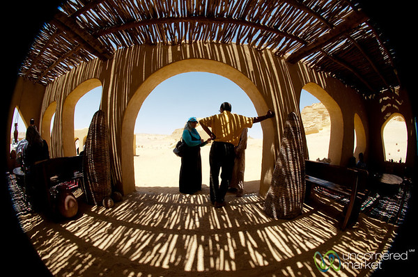 Desert Architecture in Fisheye - Fayoum, Egypt