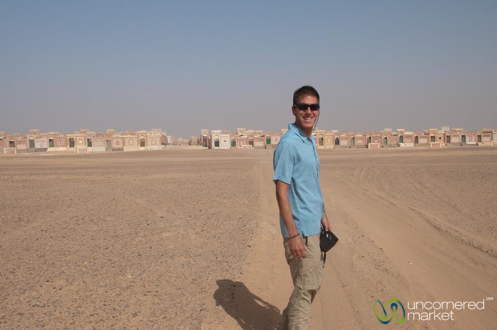 Dan at the Desert Cemetery - Cairo to Fayoum, Egypt