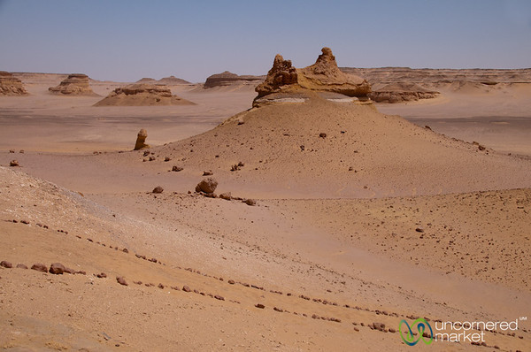 Desertscapes at Valley of the Whales - Fayoum, Egypt